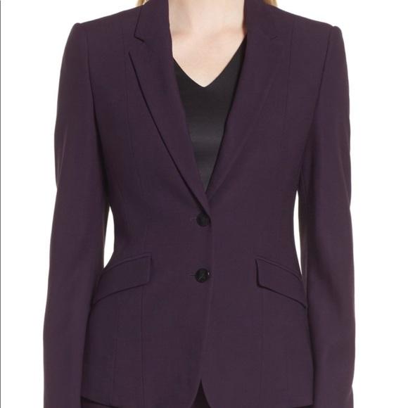 e40204153d8 Hugo Boss Jackets   Blazers - Hugo Boss  Jonalua Stretch Wool Suit Jacket   Purpl